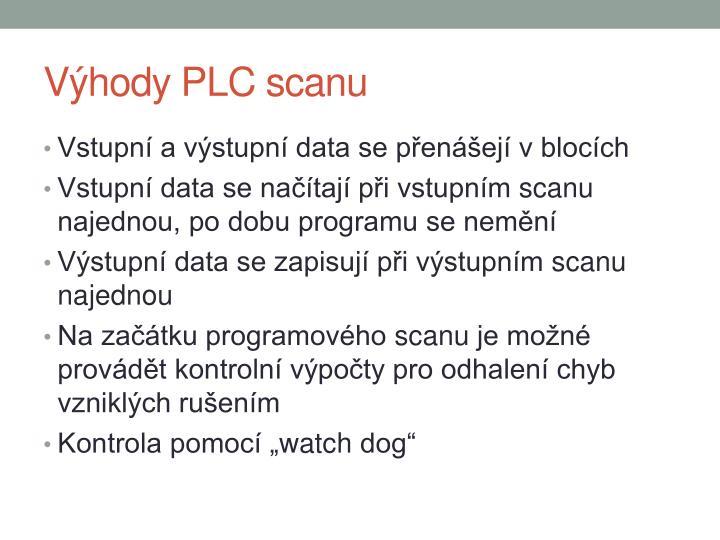 Výhody PLC