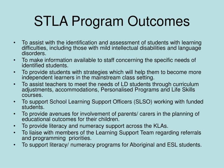 STLA Program Outcomes