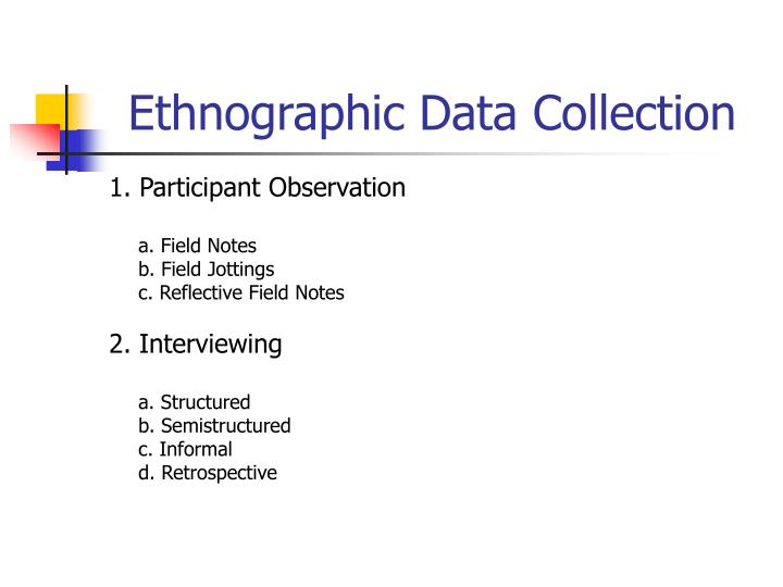 Ethnographic Data Collection