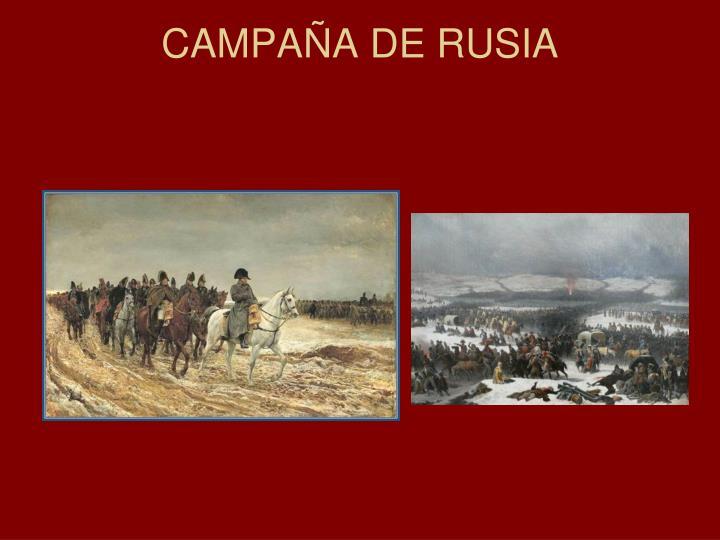 CAMPAÑA DE RUSIA