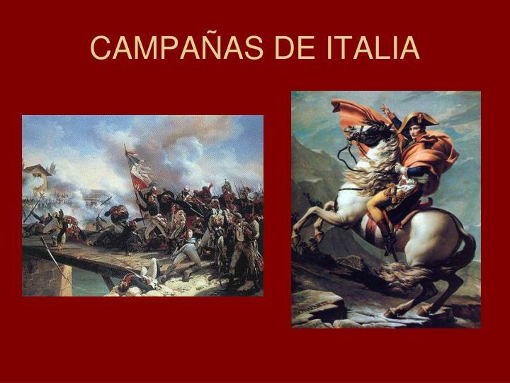 CAMPAÑAS DE ITALIA