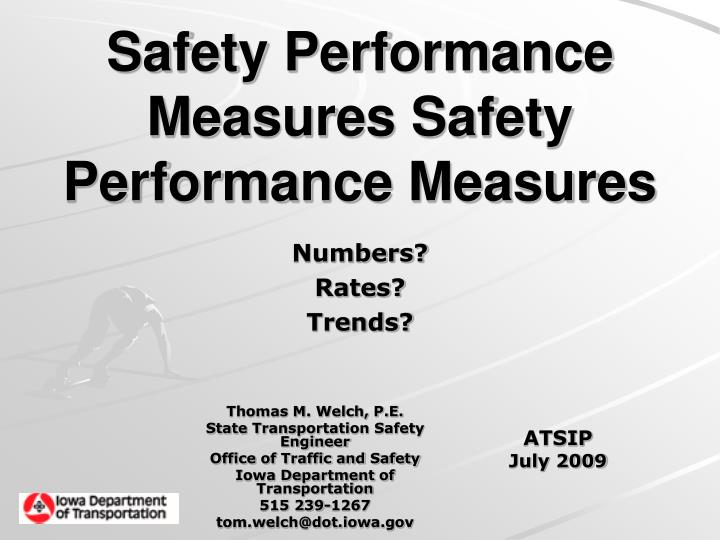Safety Performance Measures Safety Performance Measures