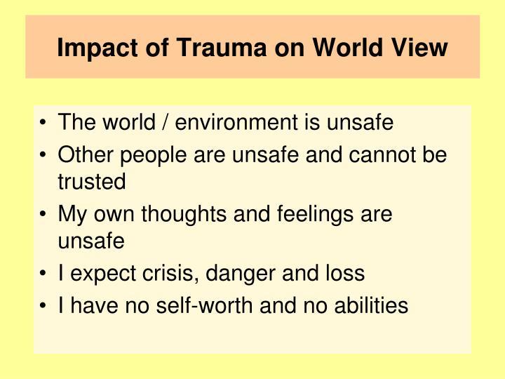 Impact of Trauma on World View