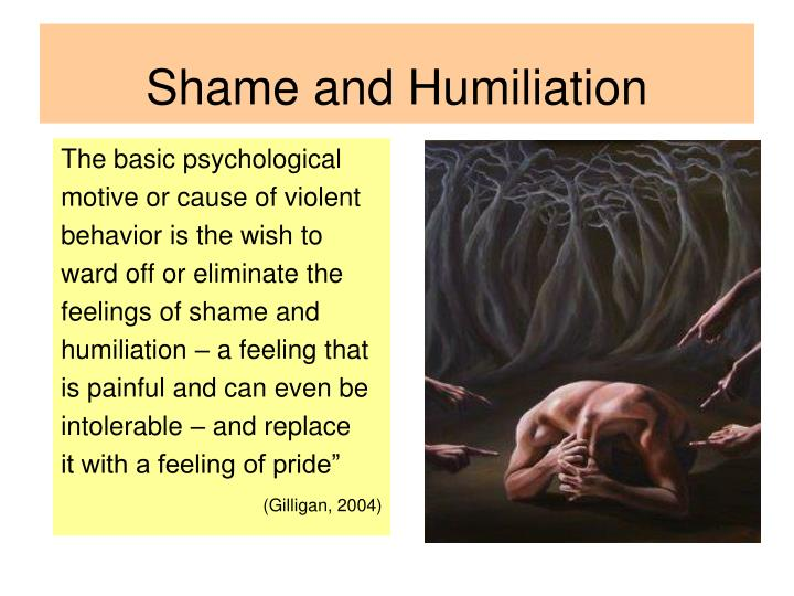 Shame and Humiliation