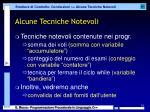 alcune tecniche notevoli1