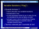 variabile bandiera flag