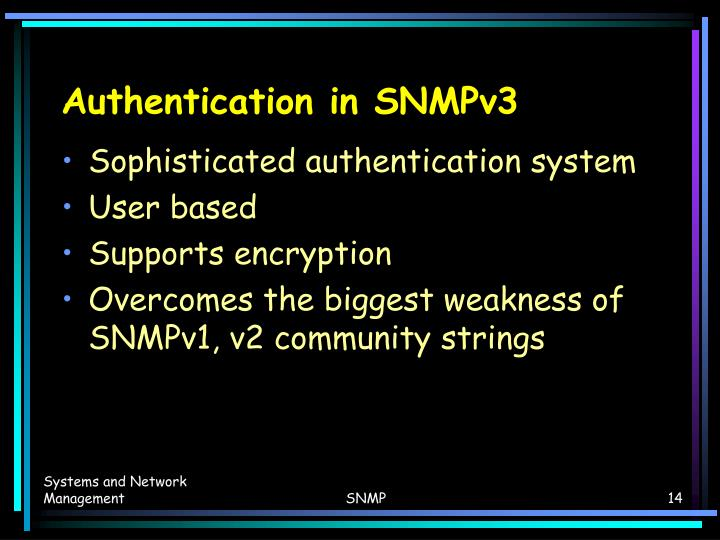 Authentication in SNMPv3