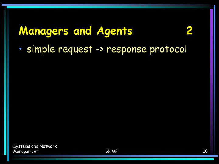 Managers and Agents   2