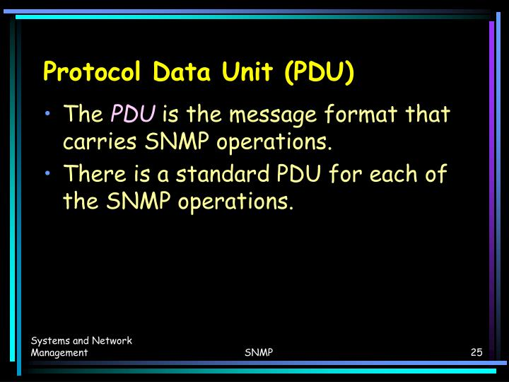 Protocol Data Unit (PDU)