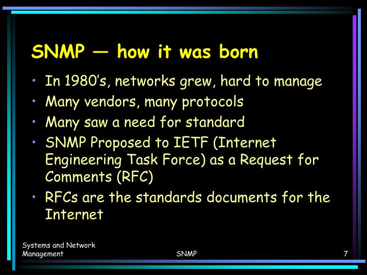 SNMP — how it was born