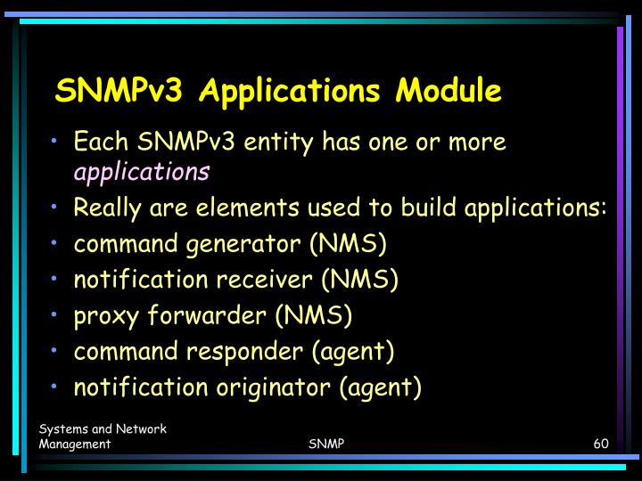 SNMPv3 Applications Module