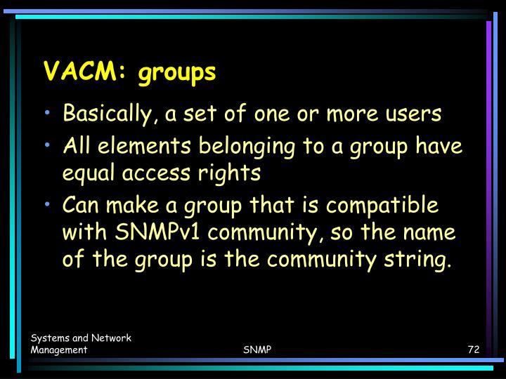 VACM: groups