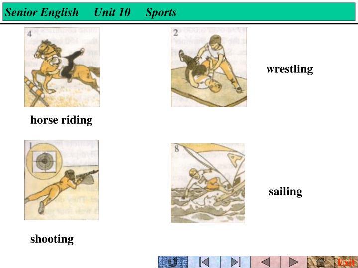 Senior English     Unit 10     Sports