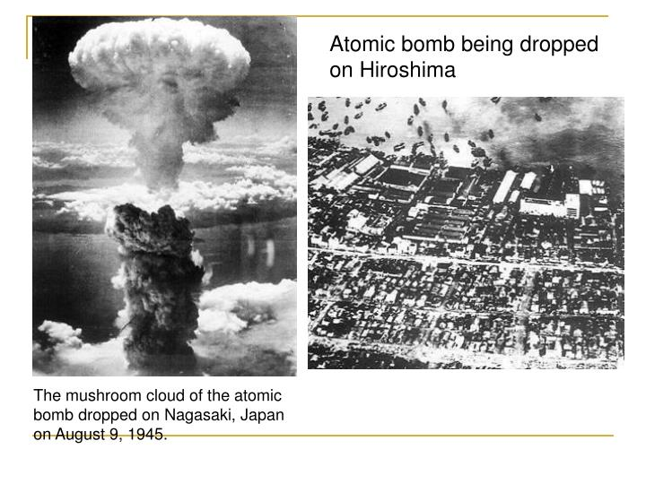 Atomic bomb being dropped on Hiroshima