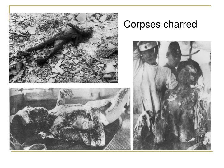 Corpses charred