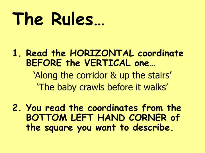 The Rules…