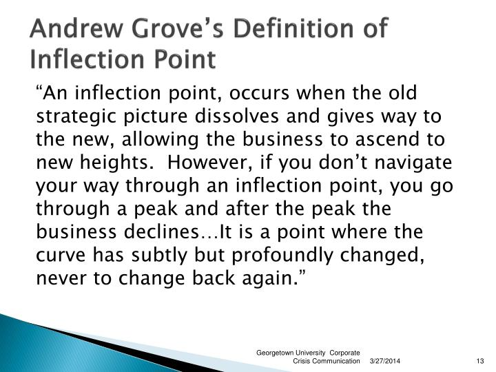 Andrew Grove's Definition of Inflection Point