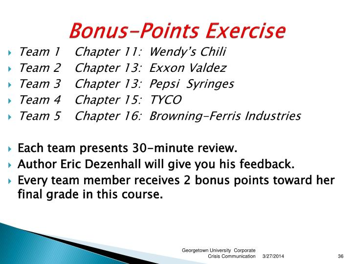 Bonus-Points Exercise
