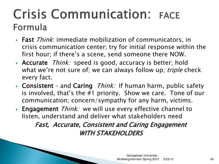 Crisis Communication: