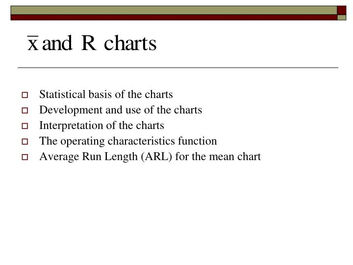 Statistical basis of the charts