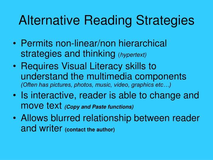 Alternative Reading Strategies