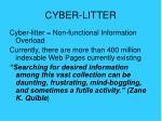 cyber litter