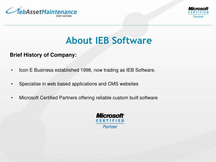 About IEB Software