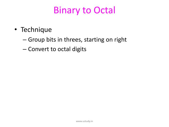 Binary to Octal