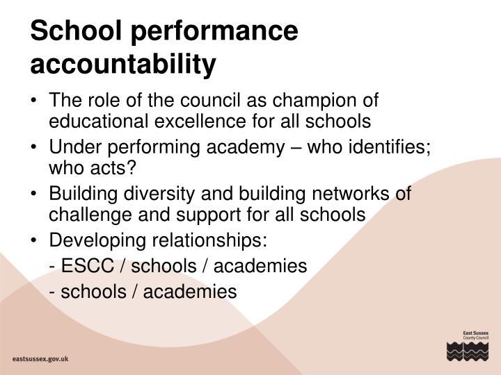 School performance accountability