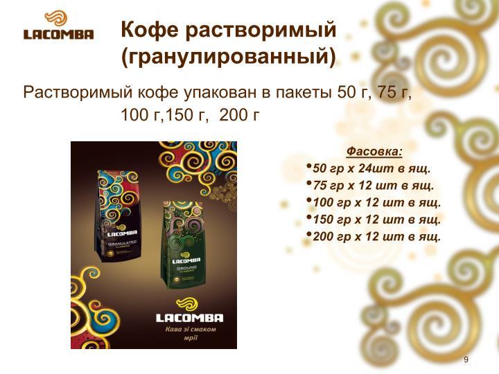 Кофе растворимый (гранулированный)