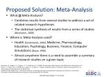 proposed solution meta analysis