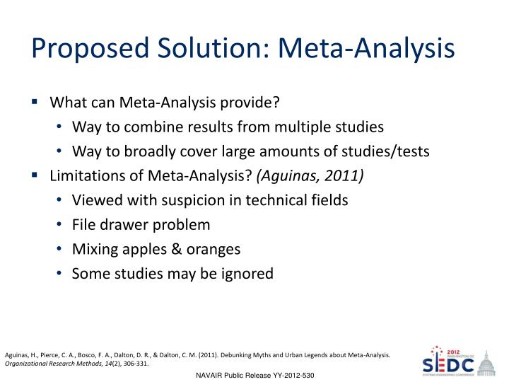 Proposed Solution: Meta-Analysis