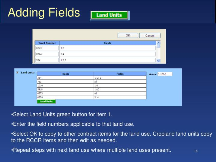 Adding Fields