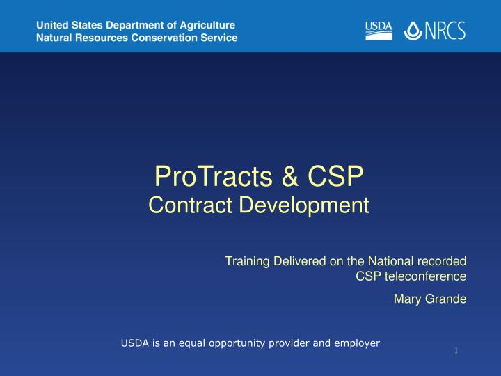 Protracts csp contract development