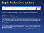 step 5 review contract items5