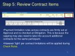 step 5 review contract items6