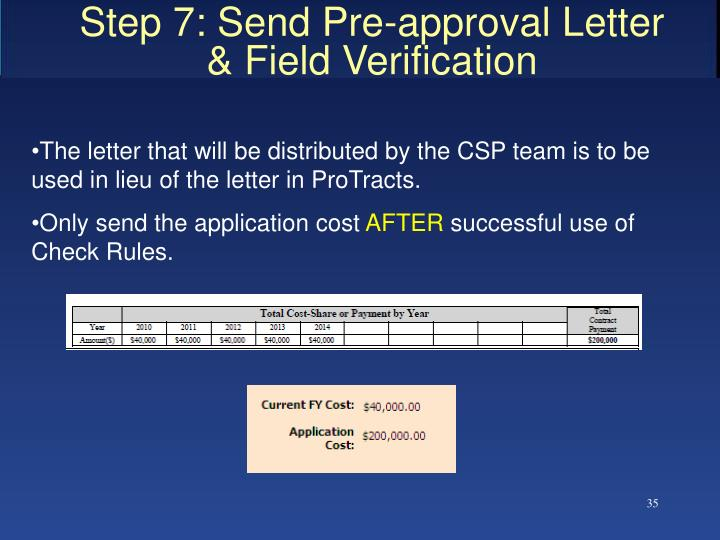 Step 7: Send Pre-approval Letter