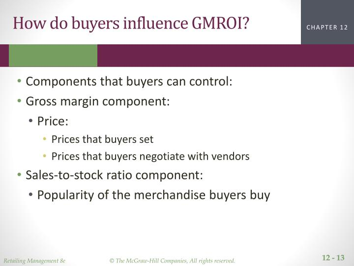 How do buyers influence GMROI?