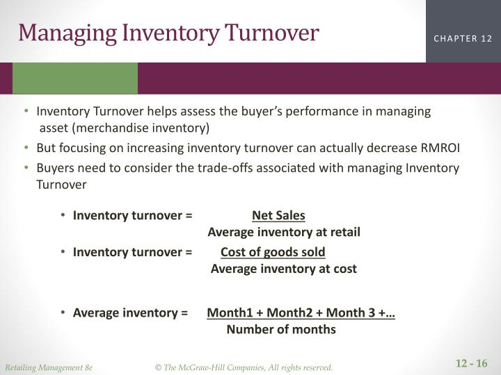 Managing Inventory Turnover