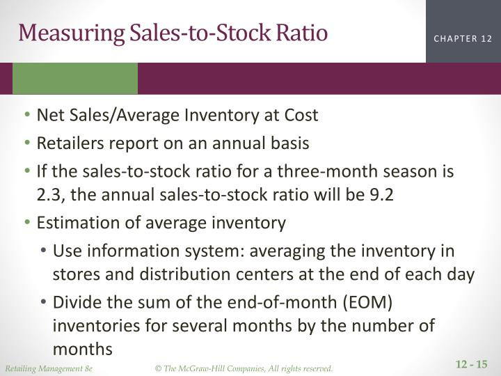 Measuring Sales-to-Stock Ratio