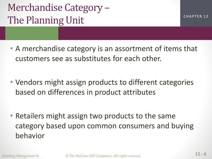 Merchandise Category –