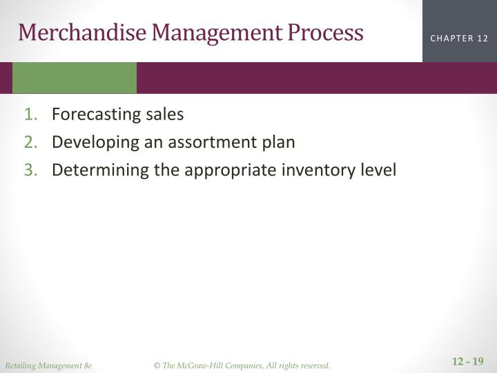 Merchandise Management Process