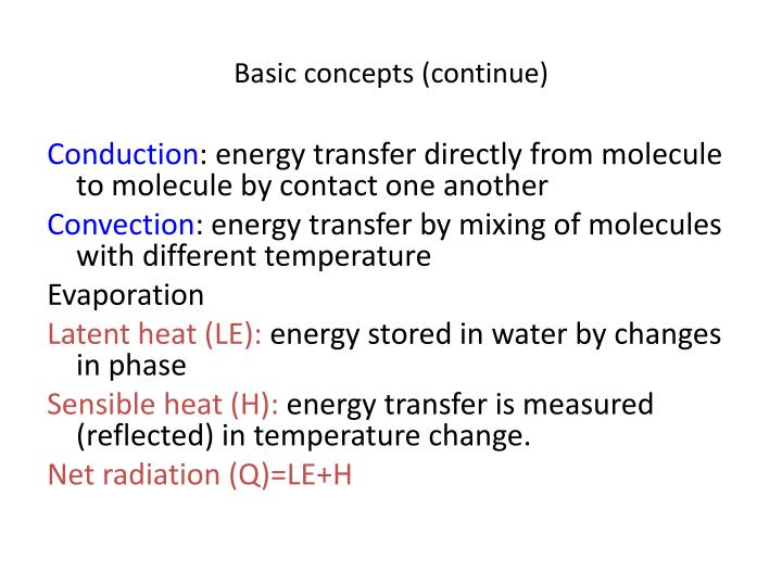 Basic concepts (continue)