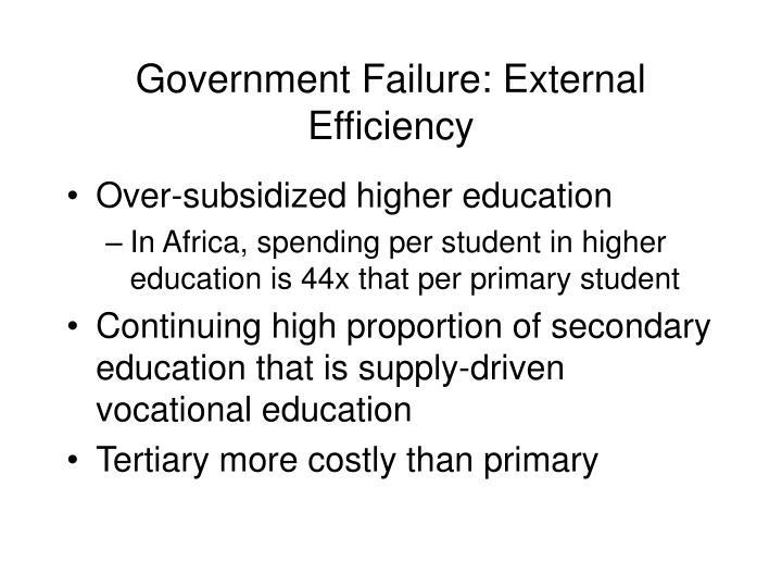 Government Failure: External Efficiency