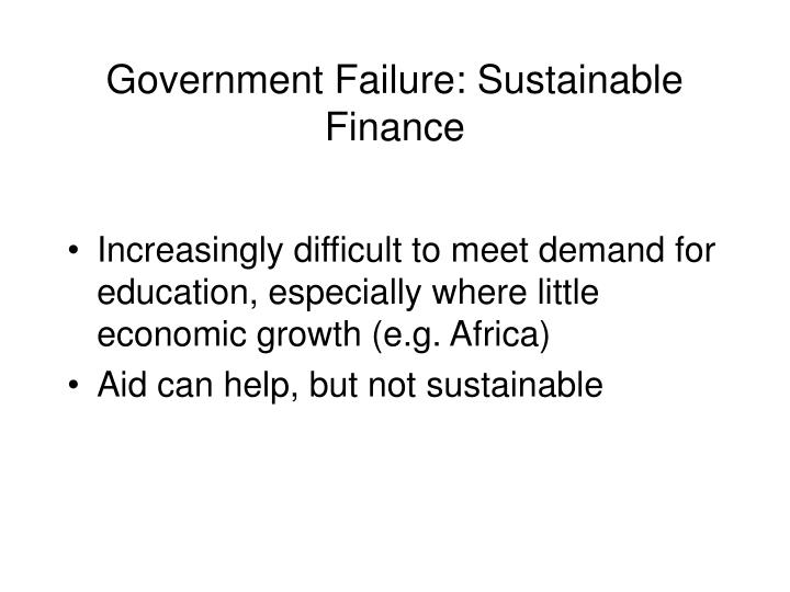 Government Failure: Sustainable Finance