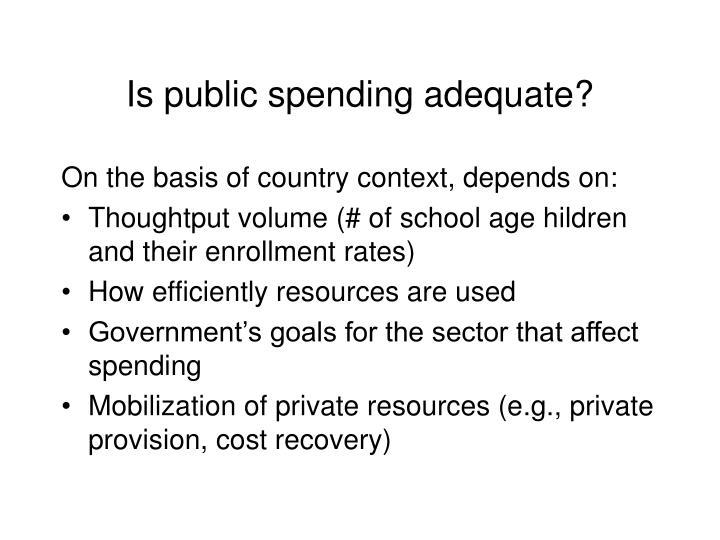 Is public spending adequate?