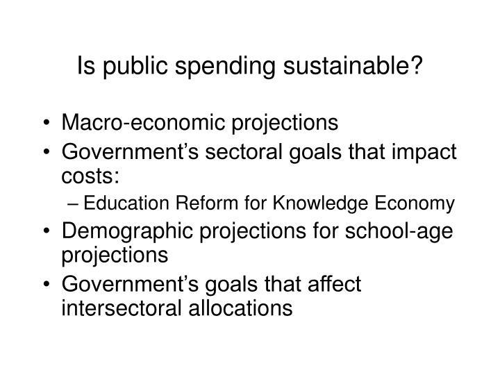 Is public spending sustainable?