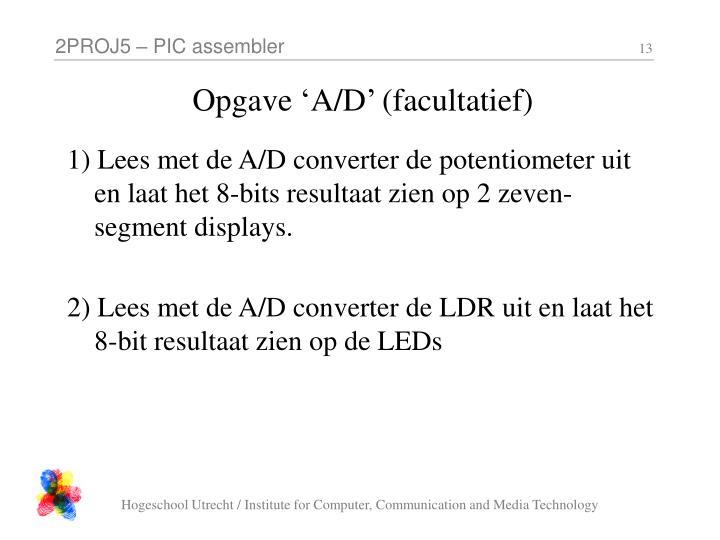 Opgave 'A/D' (facultatief)