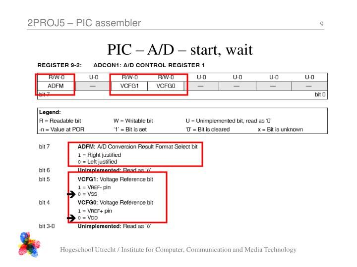PIC – A/D – start, wait
