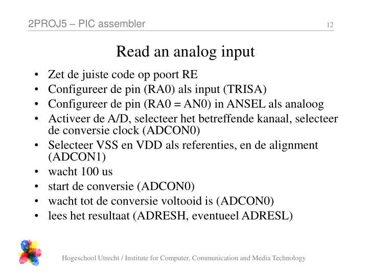 Read an analog input